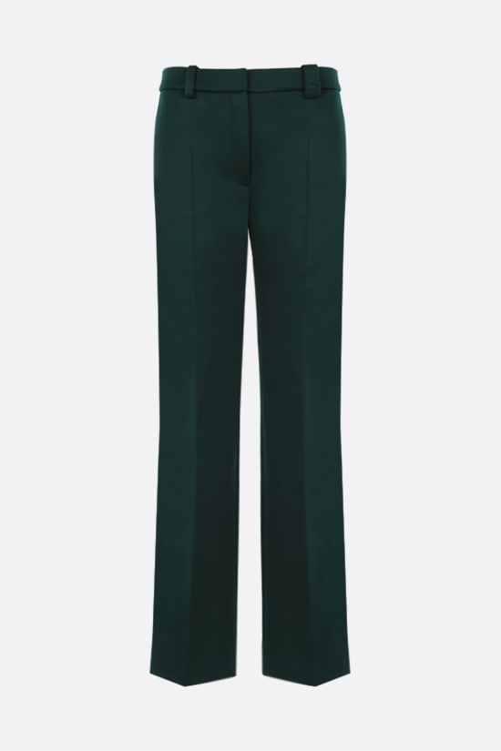 LACOSTE: straight-fit scuba fabric pants Color Green_1