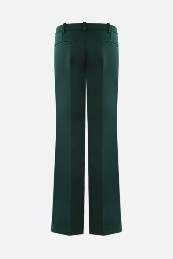 LACOSTE: straight-fit scuba fabric pants Color Green_2