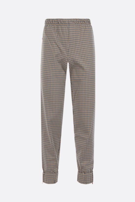 LACOSTE: houndstooth-motif technical jersey joggers Color Neutral_1