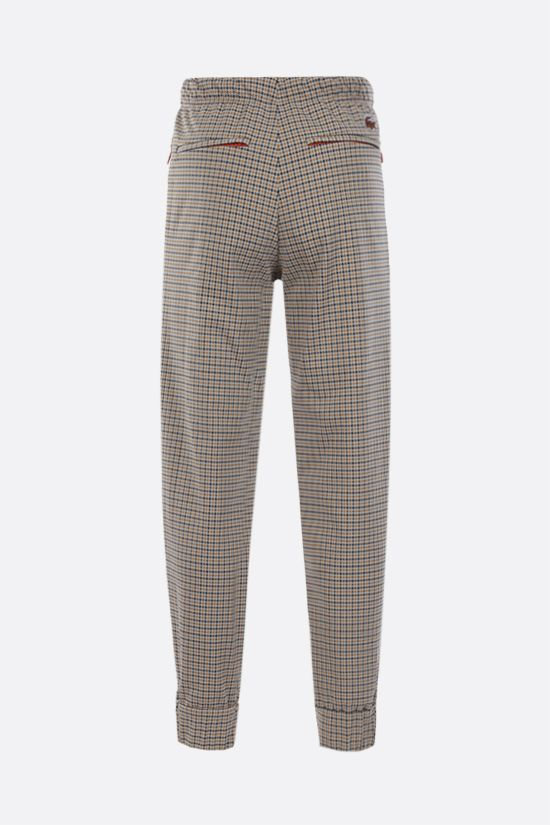 LACOSTE: houndstooth-motif technical jersey joggers Color Neutral_2