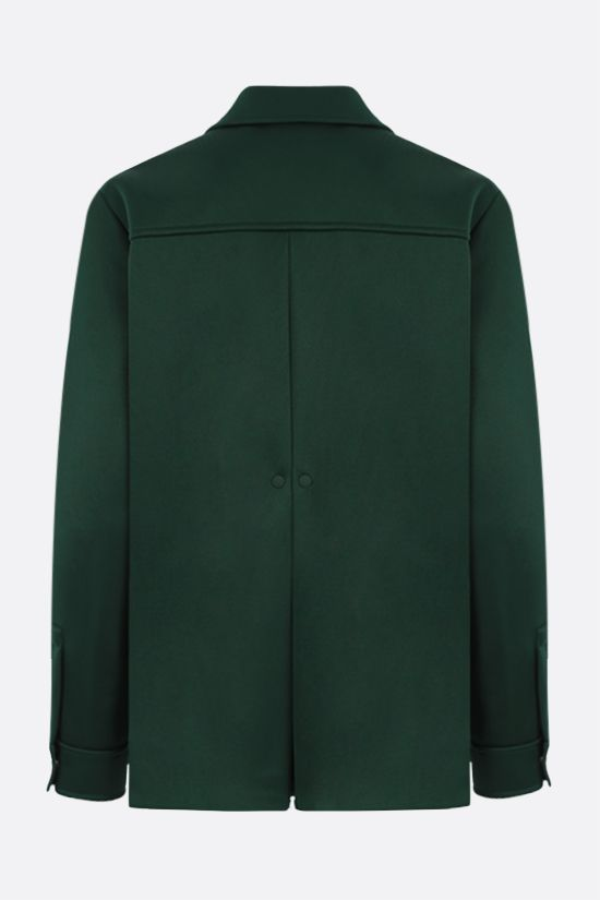 LACOSTE: logo-detailed scuba fabric bush jacket Color Green_2