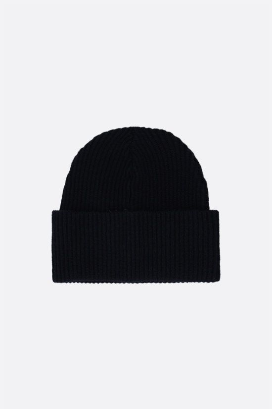 LACOSTE L!VE: logo patch wool beanie Color Blue_2