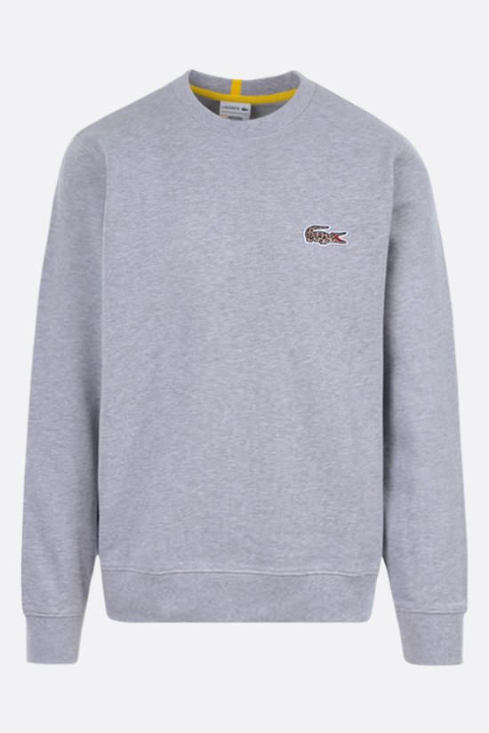 LACOSTE L!VE: logo patch jersey sweatshirt Color Grey_1