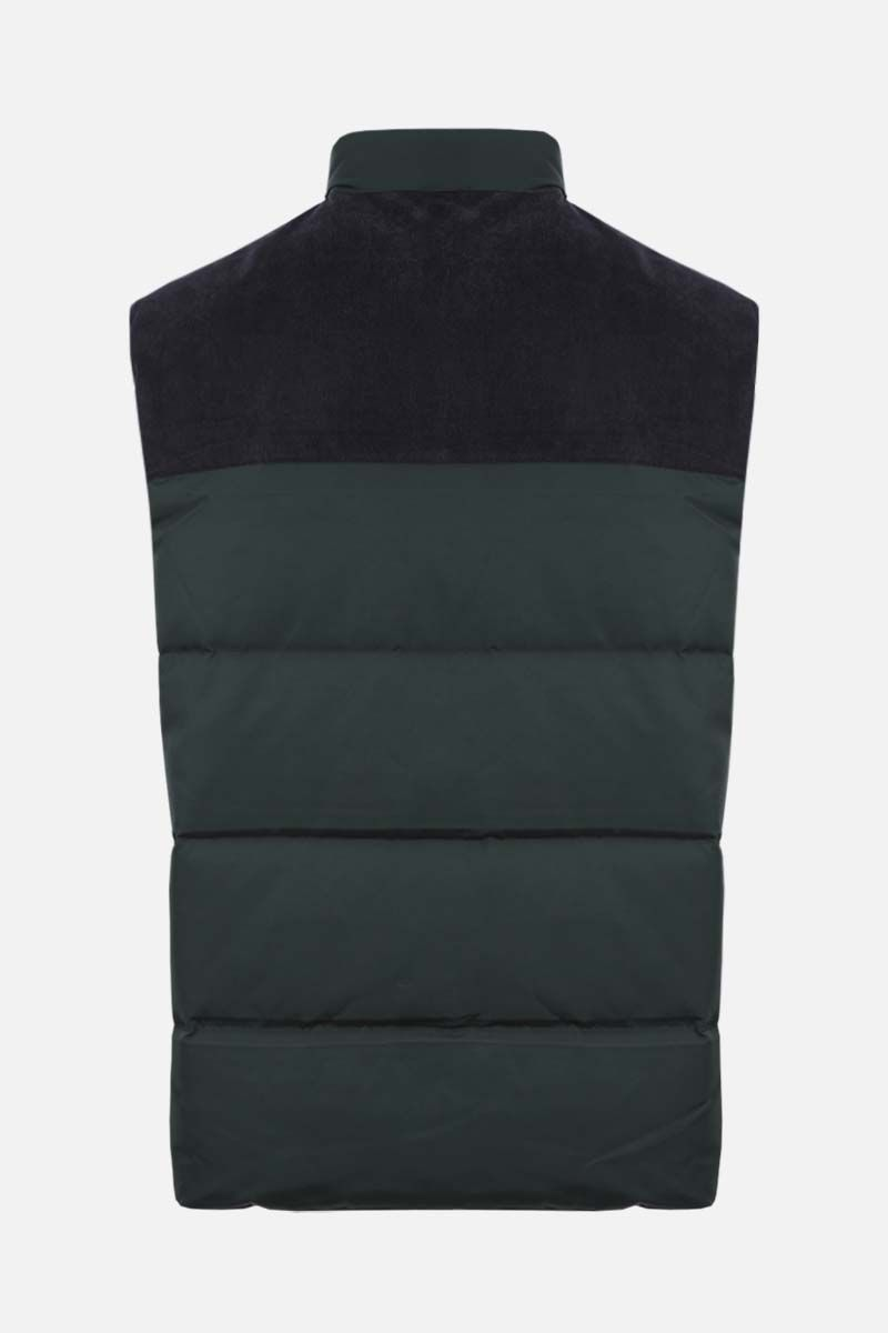 LACOSTE L!VE: gabardine and corduroy sleeveless down jacket_2