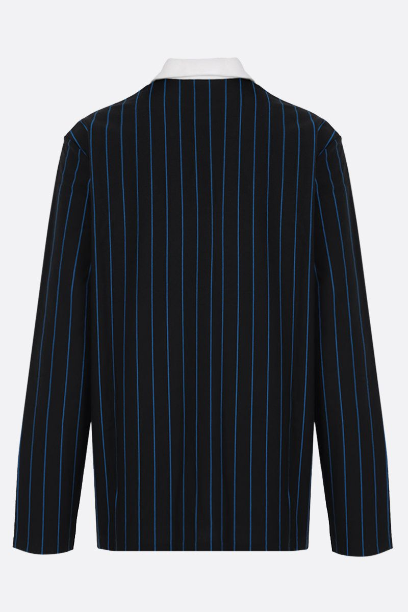 LACOSTE L!VE: long-sleeved striped cotton polo shirt Color Black_2