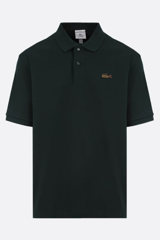 LACOSTE L!VE: cotton piquet polo shirt Color Green_1