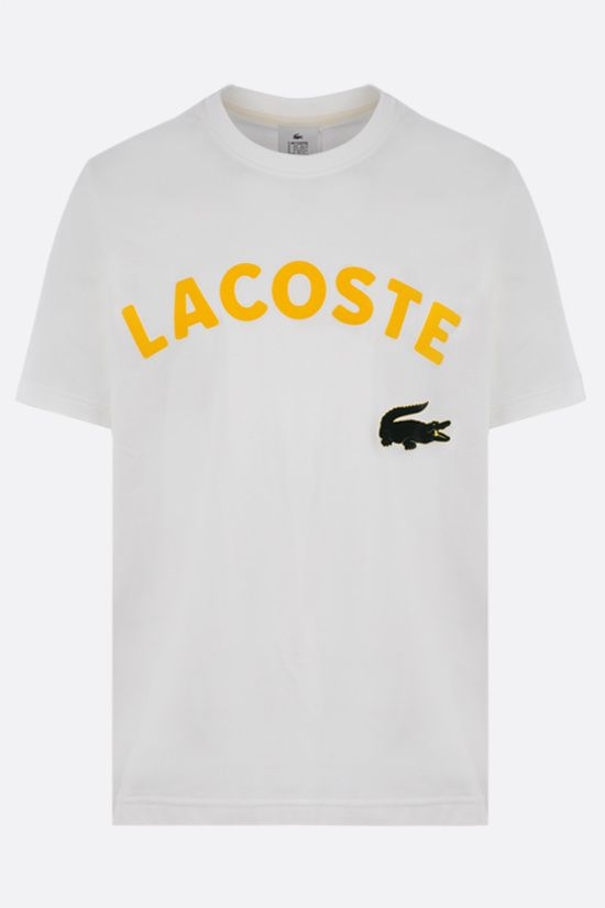 LACOSTE L!VE: Lacoste print cotton t-shirt Color White_1