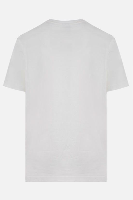 LACOSTE L!VE: Lacoste print cotton t-shirt Color White_2