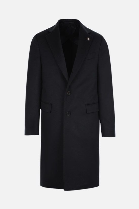 LARDINI: single-breasted cashmere coat Color Blue_1