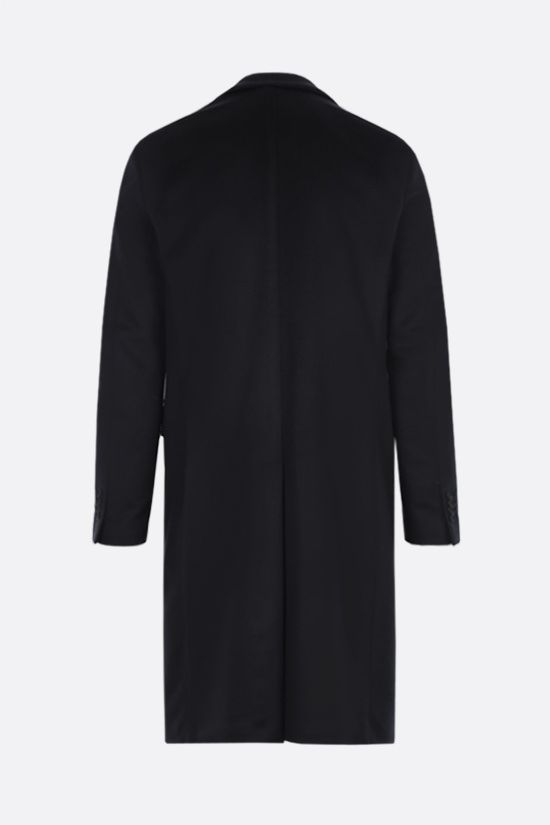 LARDINI: single-breasted cashmere coat Color Blue_2