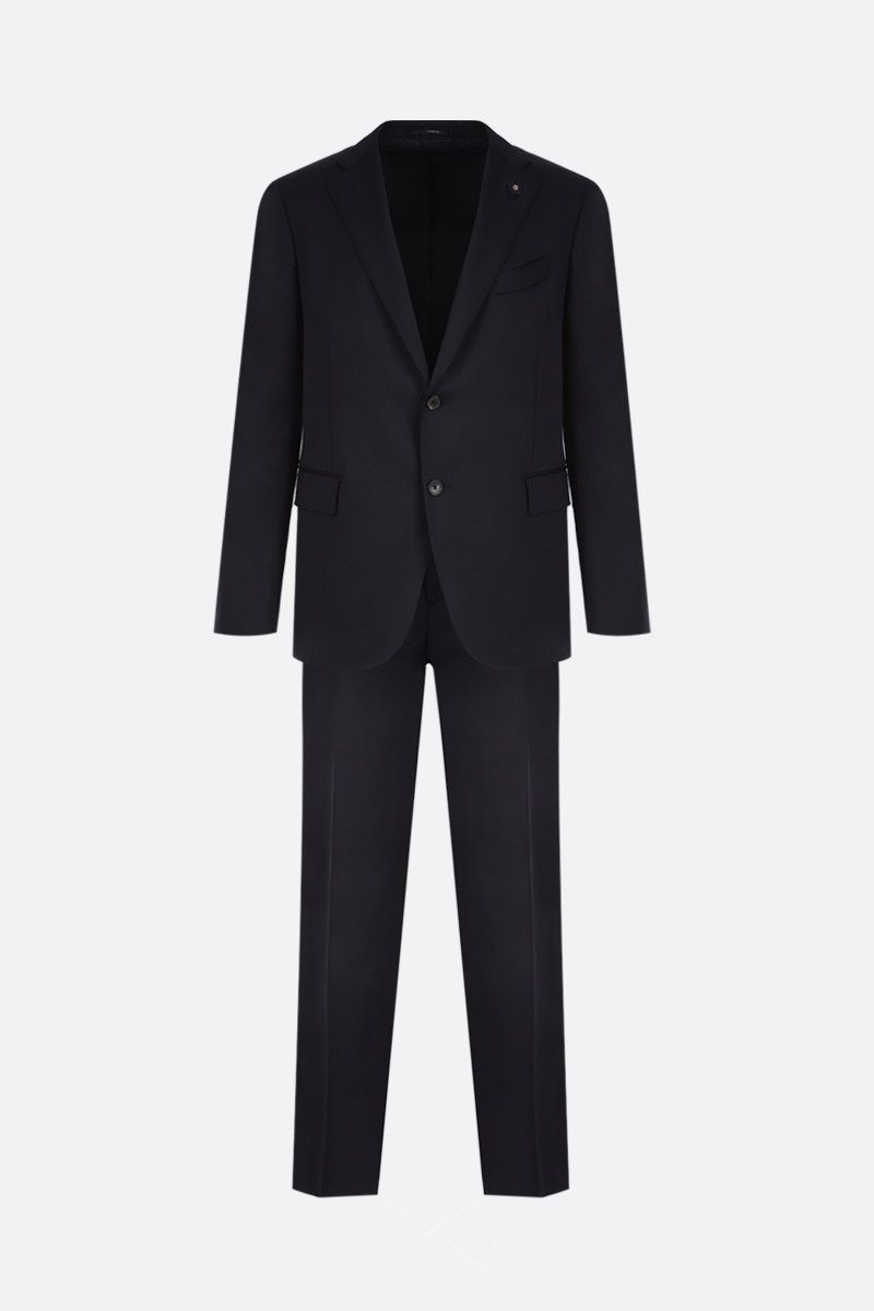 LARDINI: lightweight wool two-pieces suit Color Blue_1