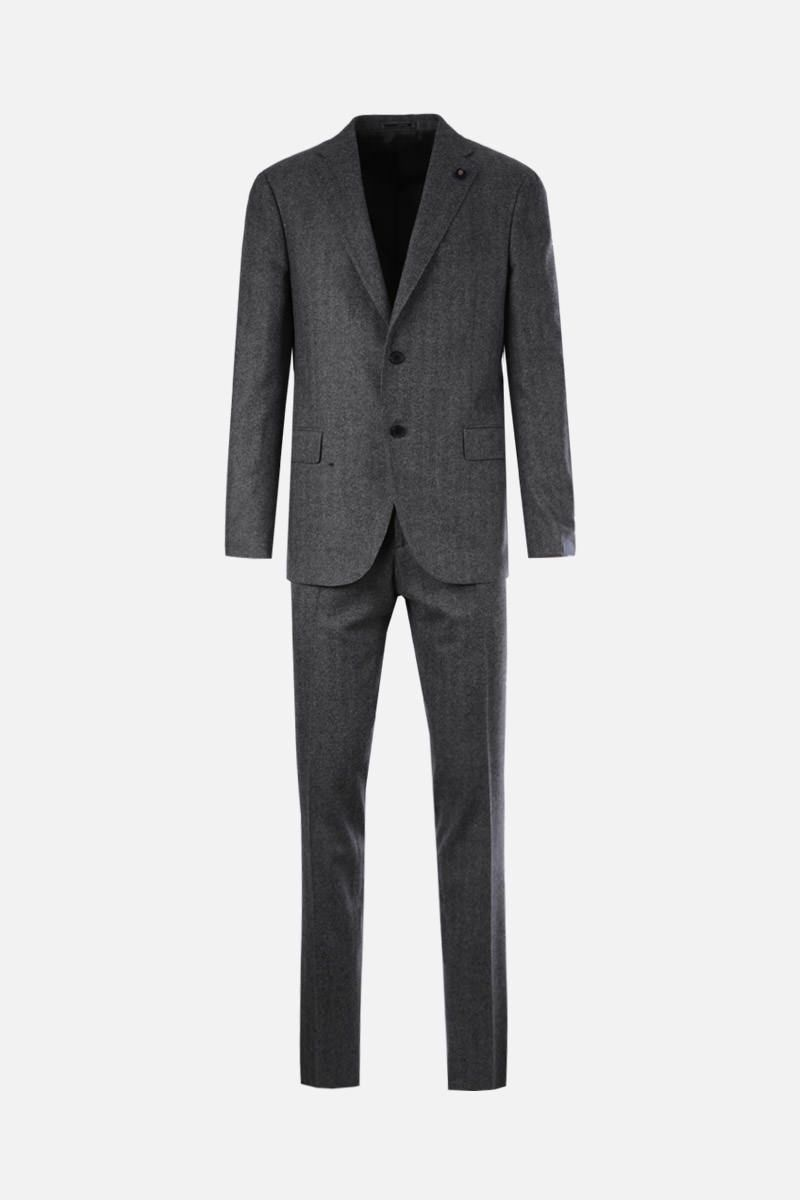 LARDINI: wool cashmere blend two-pieces suit Color Grey_1