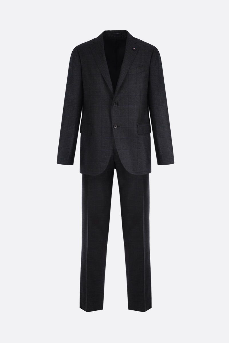 LARDINI: check wool two-pieces suit Color Multicolor_1