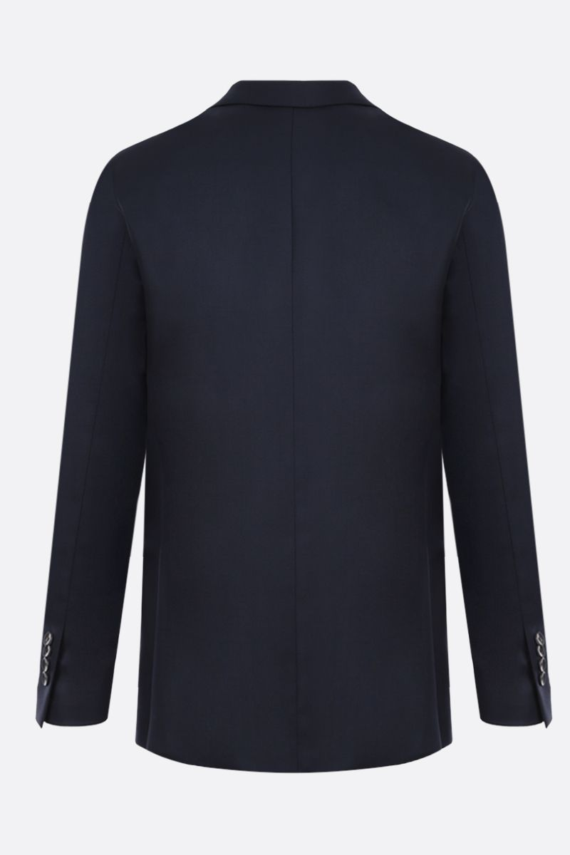 LARDINI: lightweight wool single-breasted jacket Color Blue_2