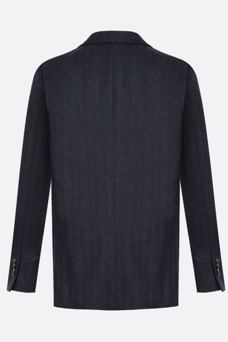LARDINI: pinstriped wool single-breasted jacket_2