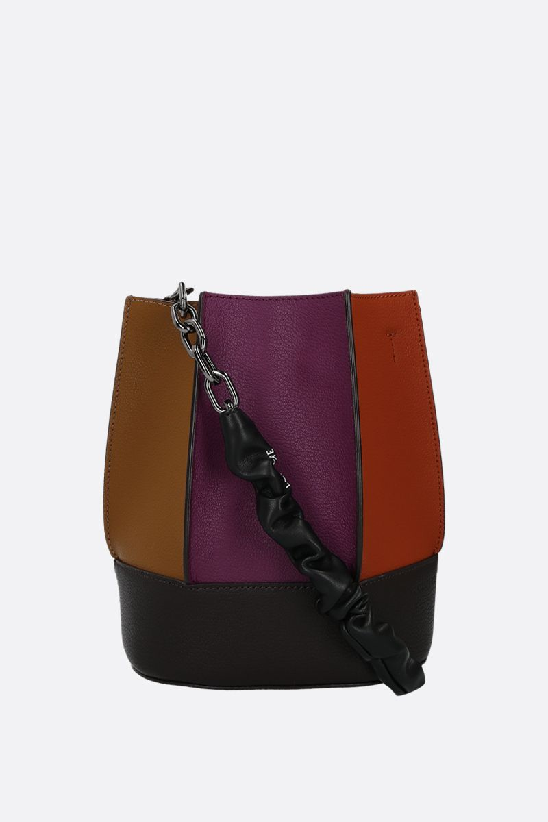 LOEUVRE: Sac de Lumière grainy leather bucket bag Color Multicolor_2