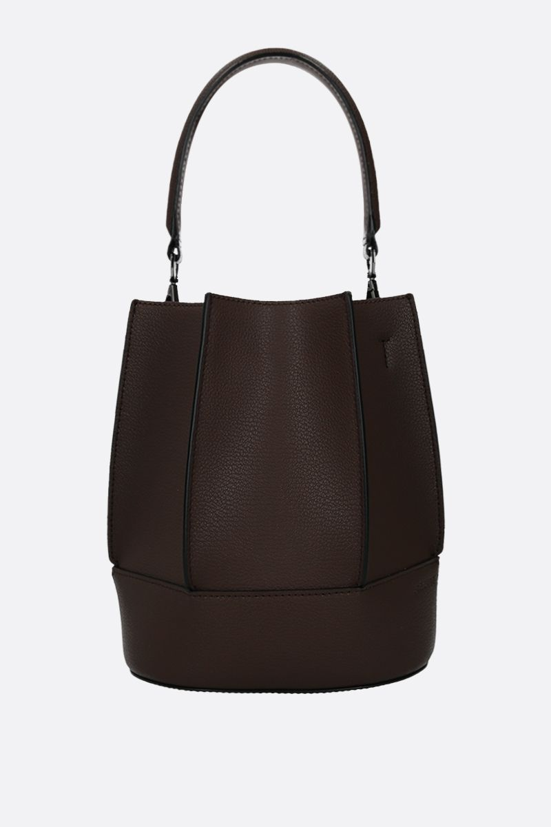 LOEUVRE: Sac de Lumière grainy leather bucket bag_1
