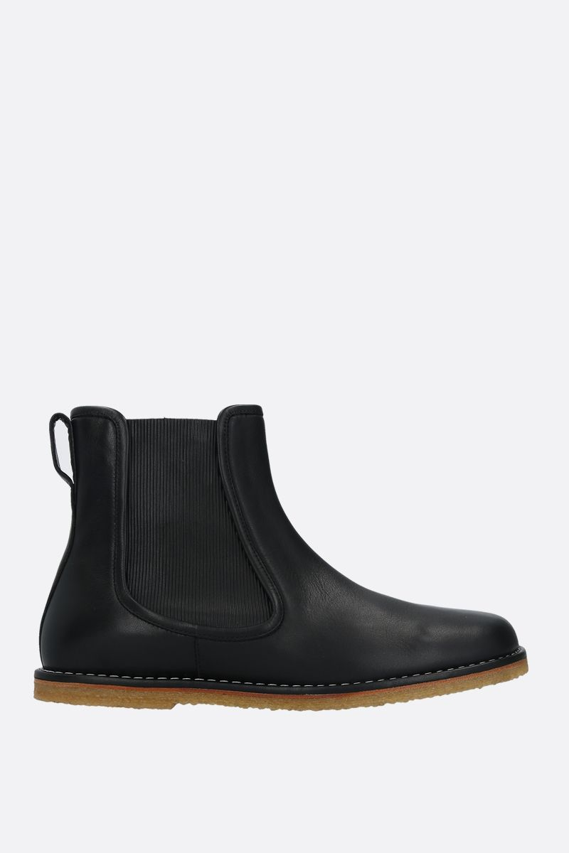 LOEWE: smooth leather chelsea boots Color Black_1