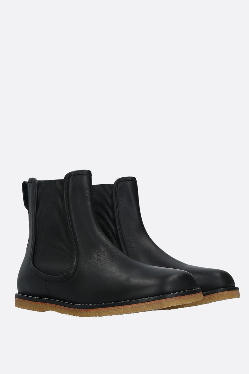 LOEWE: smooth leather chelsea boots Color Black_2