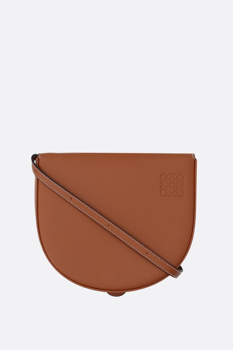 LOEWE: Heel mini smooth leather crossbody bag Color Brown_1