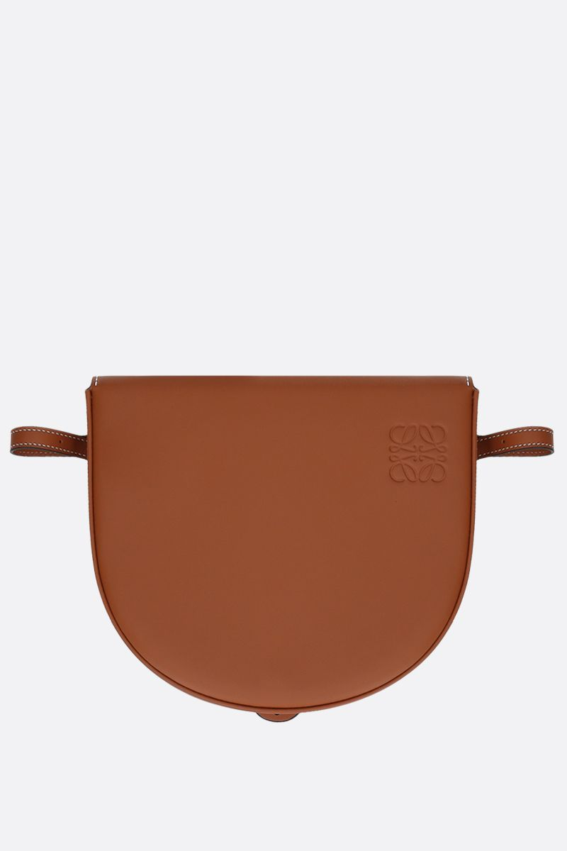 LOEWE: Heel mini smooth leather crossbody bag Color Brown_2