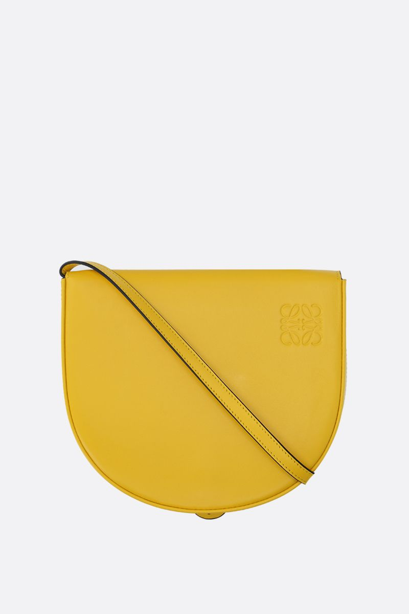 LOEWE: Heel mini smooth leather crossbody bag Color Yellow_1