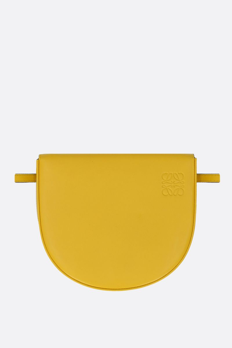 LOEWE: Heel mini smooth leather crossbody bag Color Yellow_2