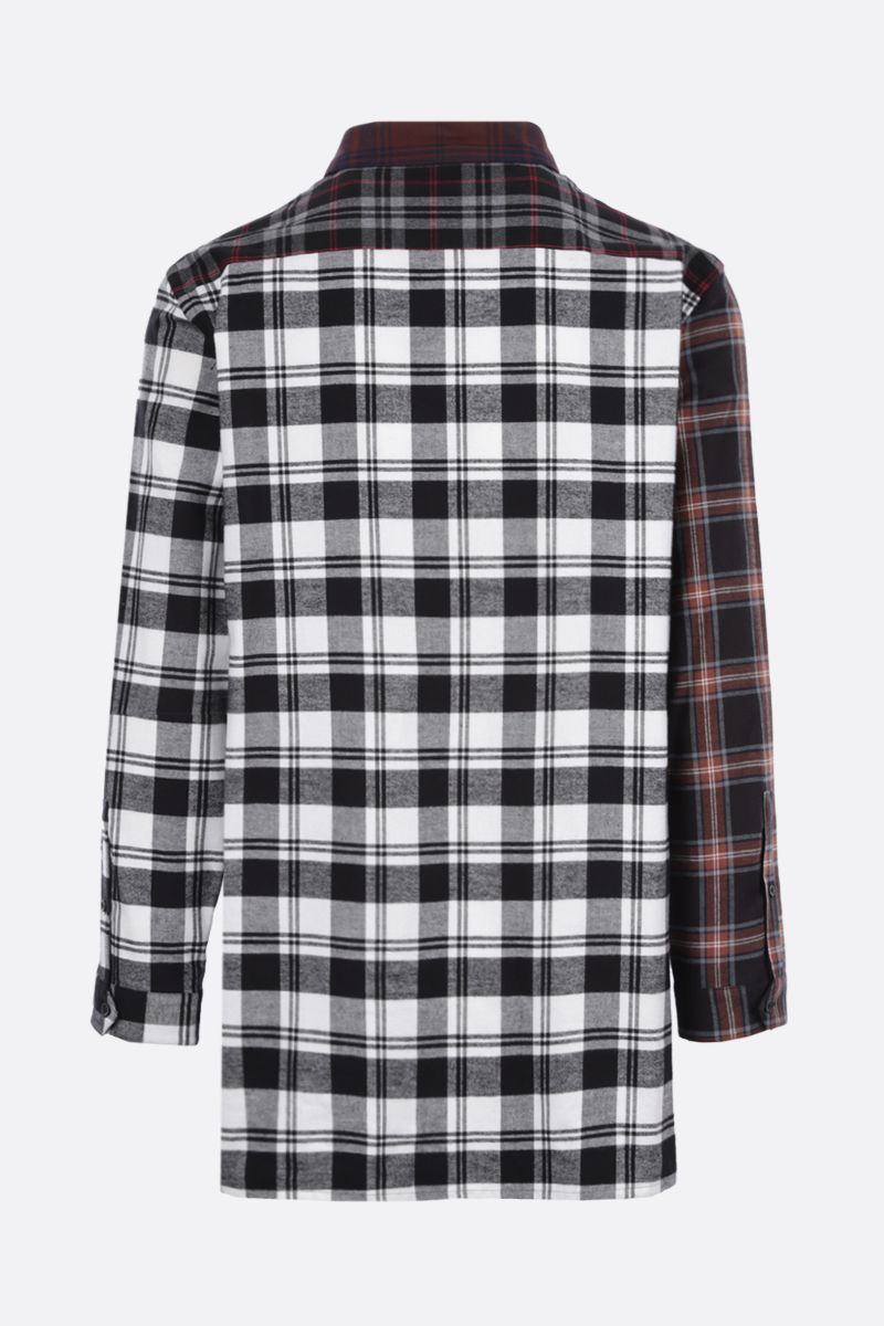 LOEWE: oversize check flannel shirt Color Brown_2