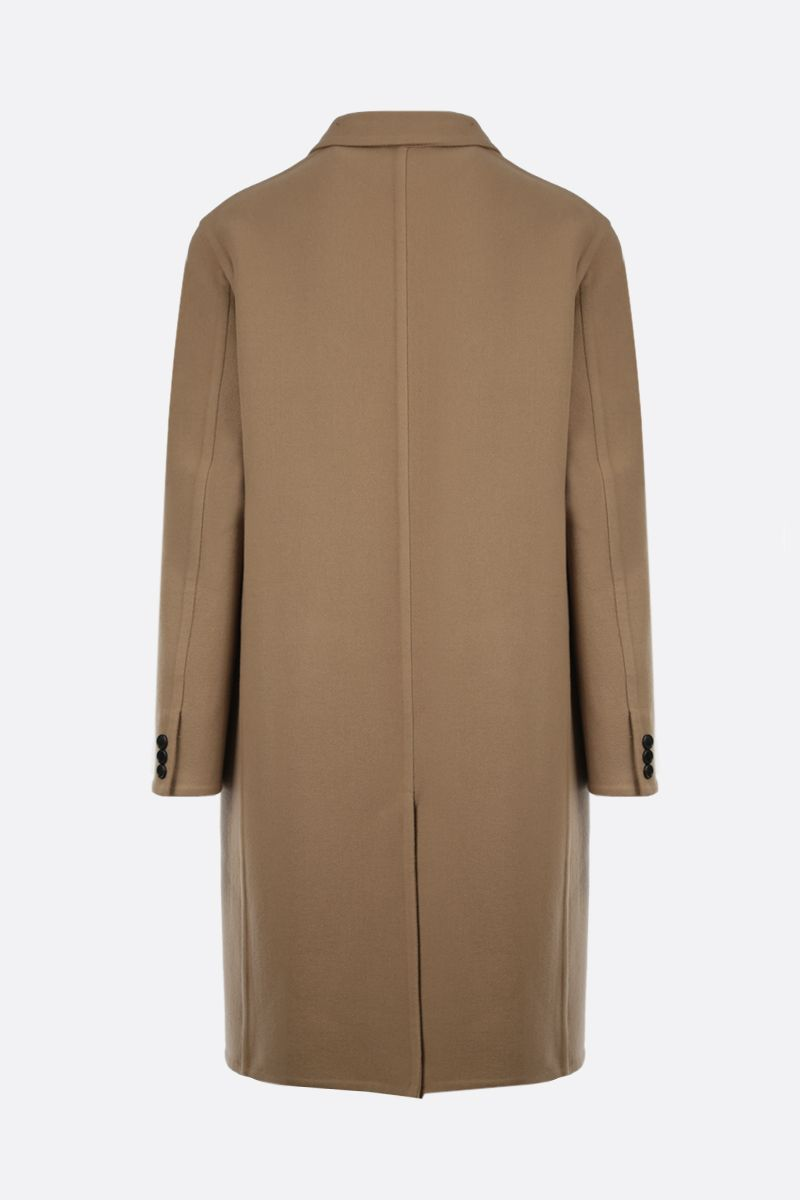 LOEWE: double-breasted wool cashmere blend coat Color Brown_2