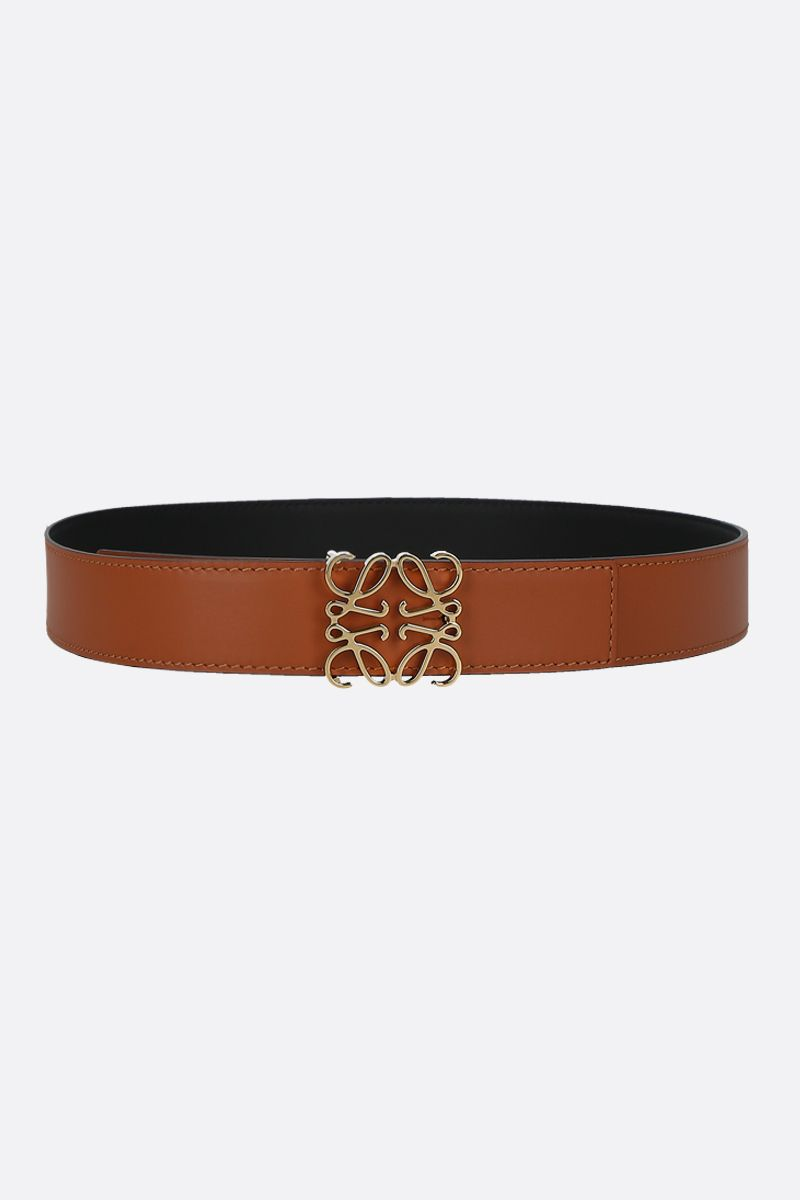 LOEWE: Anagram smooth leather reversible belt Color Multicolor_1