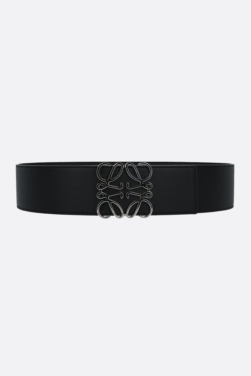 LOEWE: Anagram smooth leather waist belt_1