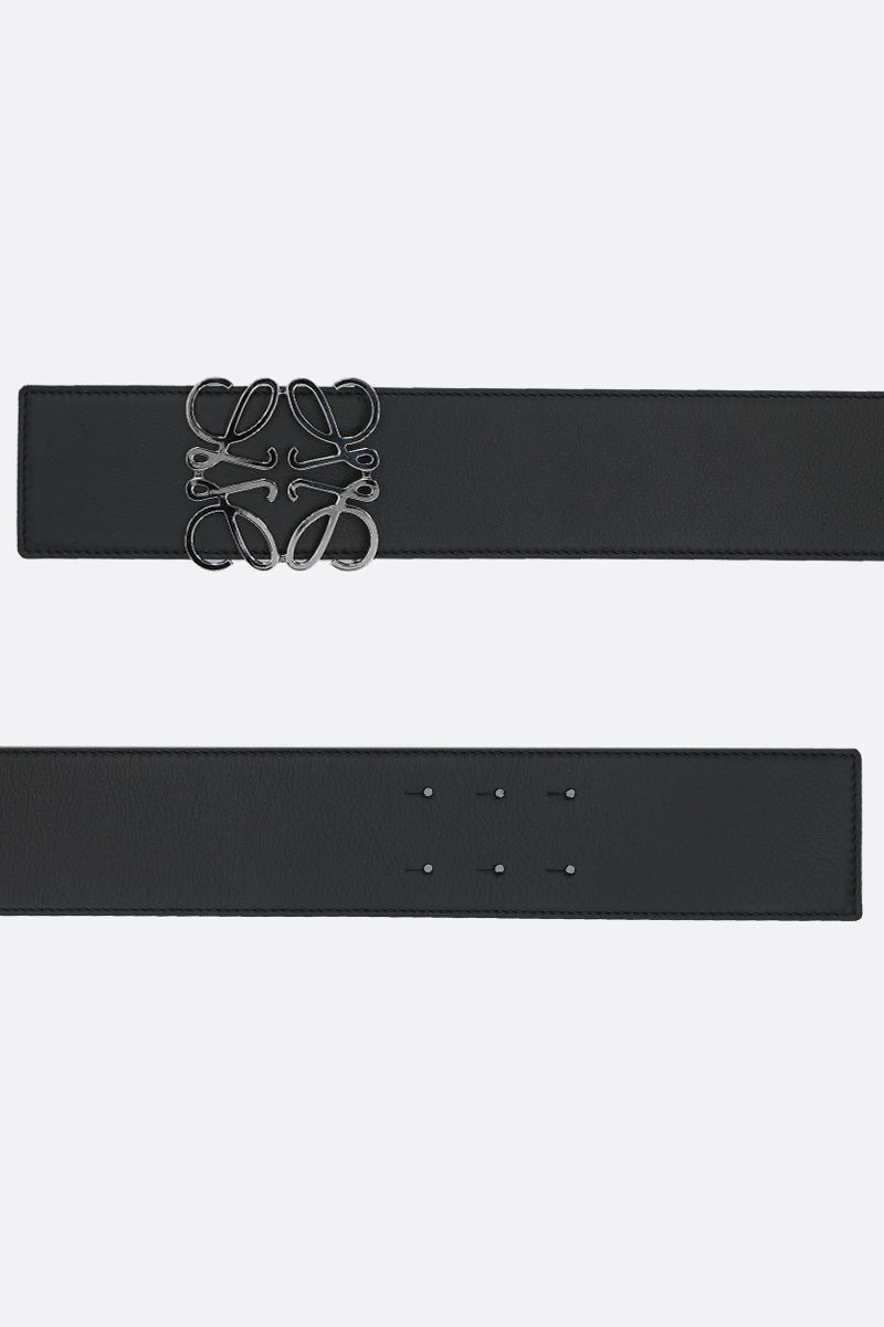 LOEWE: Anagram smooth leather waist belt_2