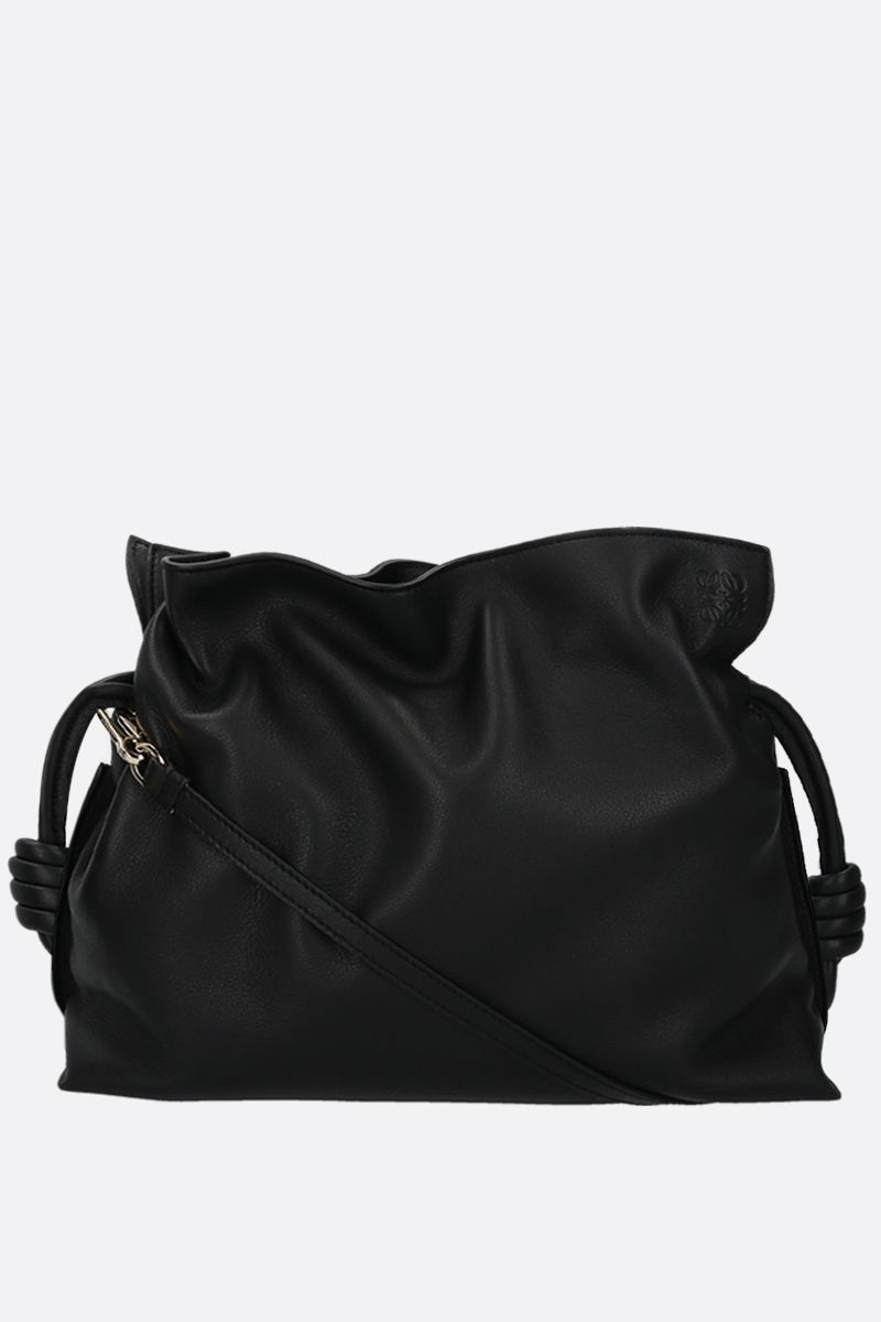 LOEWE: Flamenco soft nappa leather cluch Color Black_1