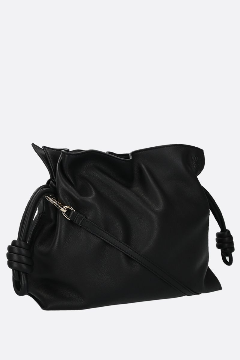 LOEWE: Flamenco soft nappa leather cluch Color Black_2