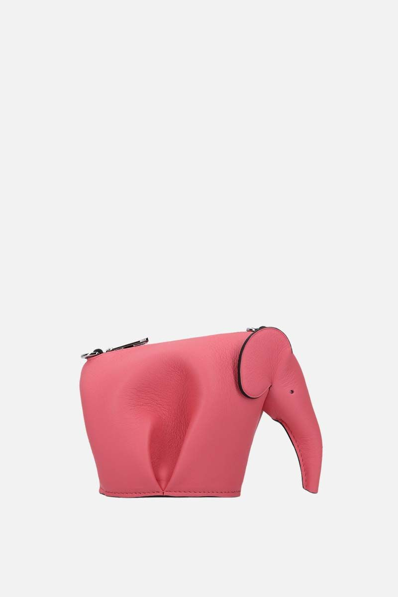 LOEWE: clutch con catena Elephant in pelle Classic Colore Rosa_1
