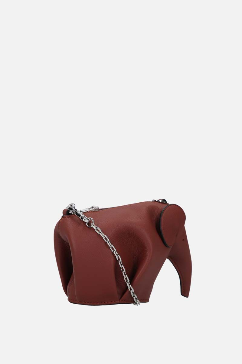 LOEWE: Elephant chain clutch in Classic leather_2