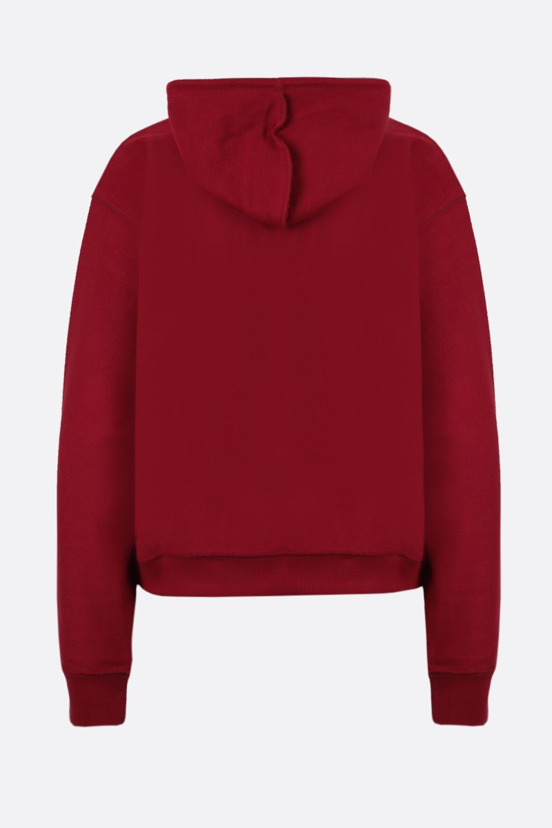 LOEWE: Loewe Anagram embroidered cotton hoodie Color Red_2