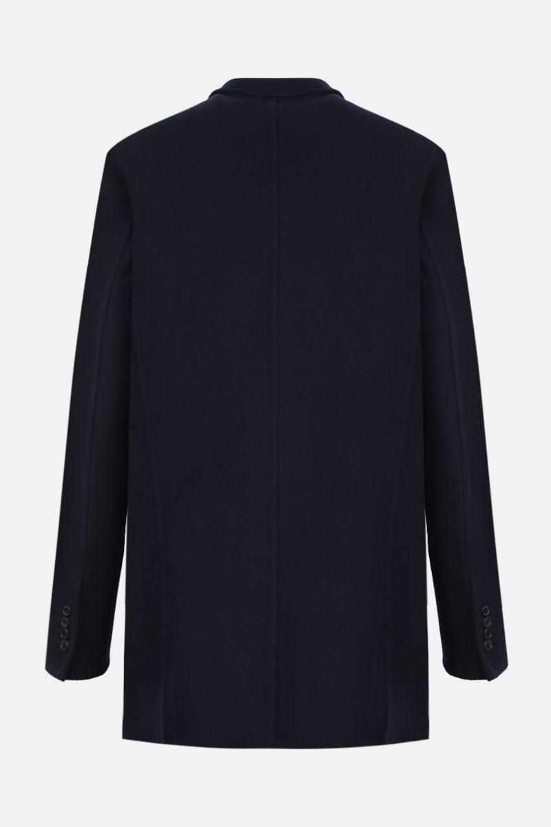 LOEWE: double-breasted wool cashmere blend coat Color Blue_2
