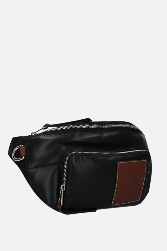 LOEWE: nappa and nylon padded belt bag Color Black_2