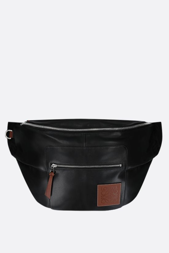 LOEWE: XL Puffy nappa and nylon belt bag Color Black_1