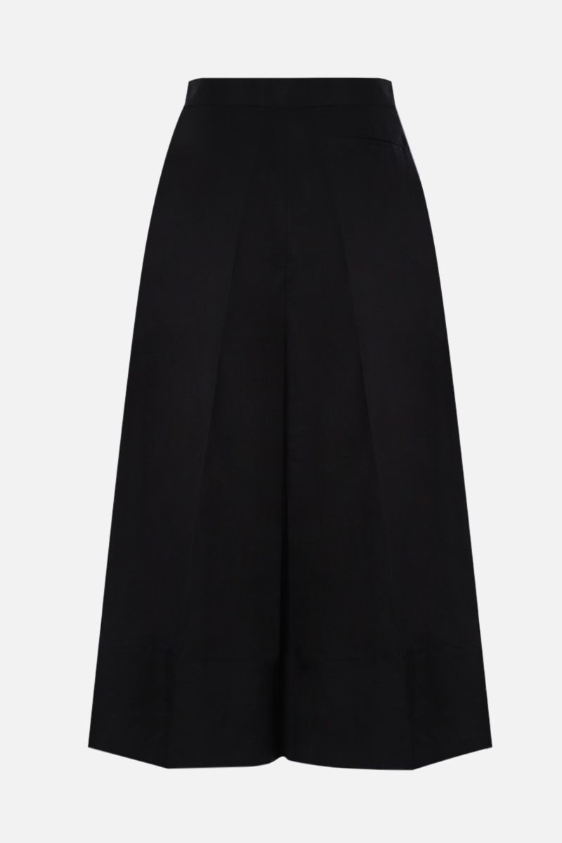 LOEWE: turn-up hem-detailed linen cotton blen cropped pants Color Black_2