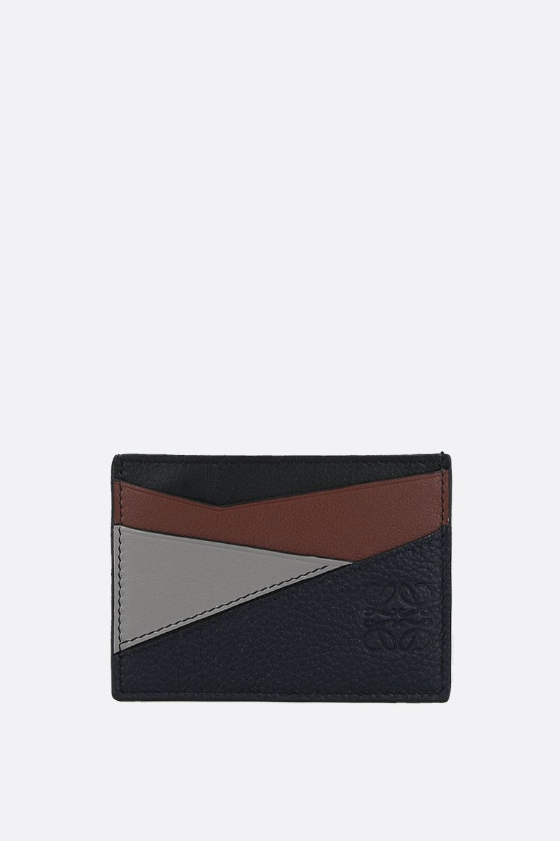 LOEWE: Puzzle leather card holder Color Blue_1