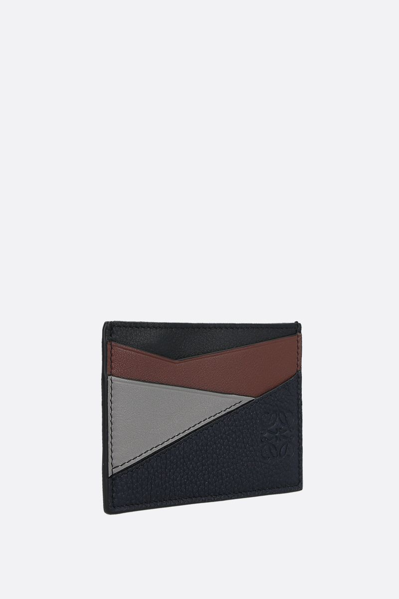 LOEWE: Puzzle leather card holder Color Blue_2