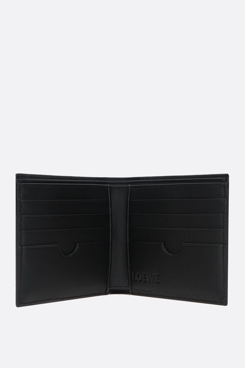 LOEWE: Anagram soft grainy leather billfold wallet Color Black_2