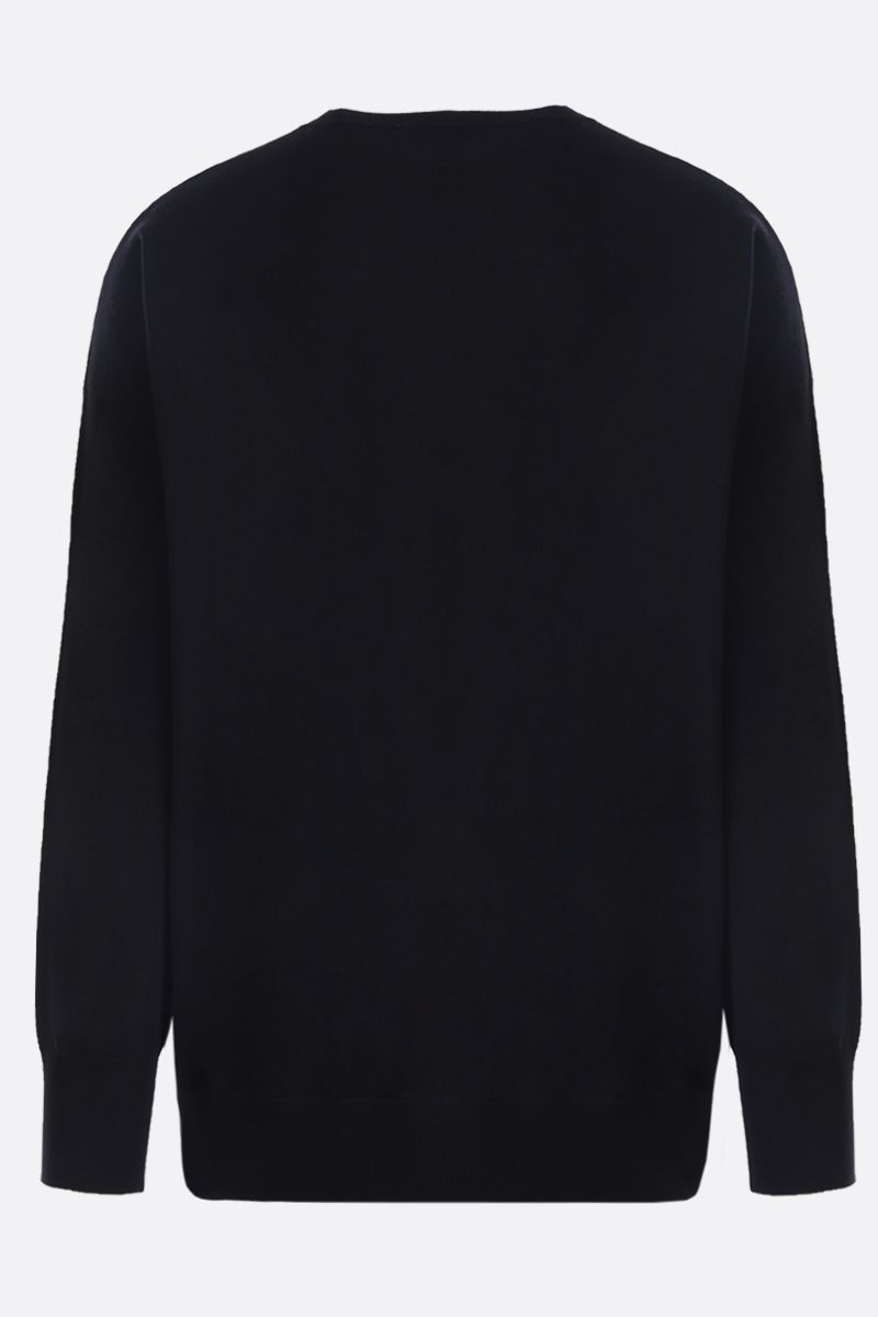 LOEWE: Anagram embroidered wool cashmere blend pullover Color Black_2