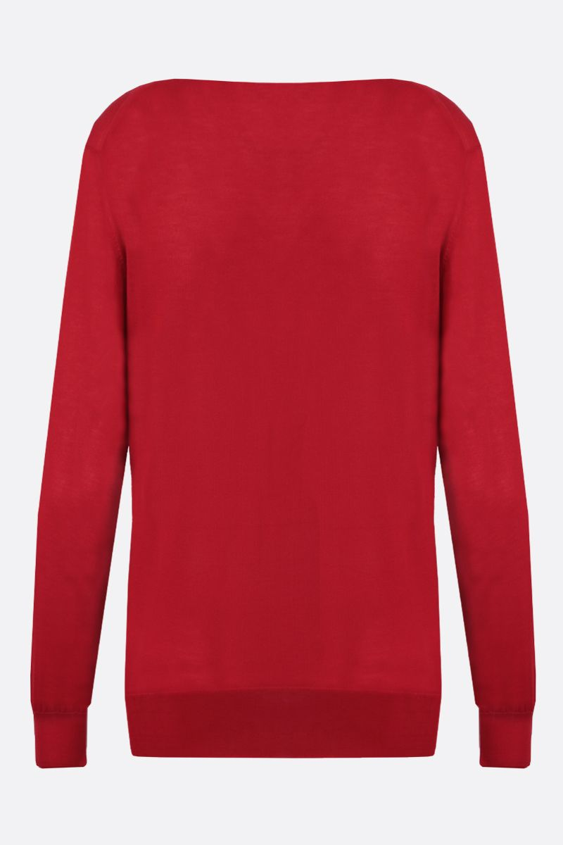 LOEWE: pullover in cashmere ricamo Anagarm Colore Rosso_2