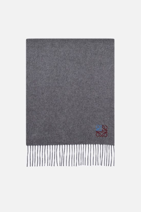 LOEWE: Anagram cashmere scarf Color Grey_1