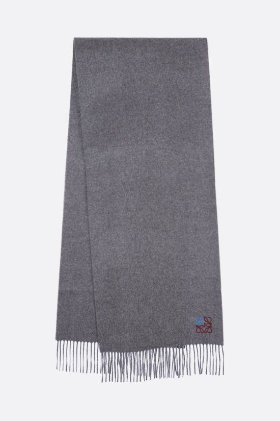 LOEWE: Anagram cashmere scarf Color Grey_2