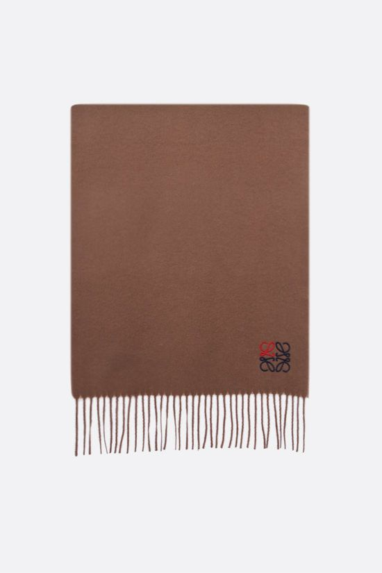 LOEWE: Anagram cashmere scarf Color Neutral_1