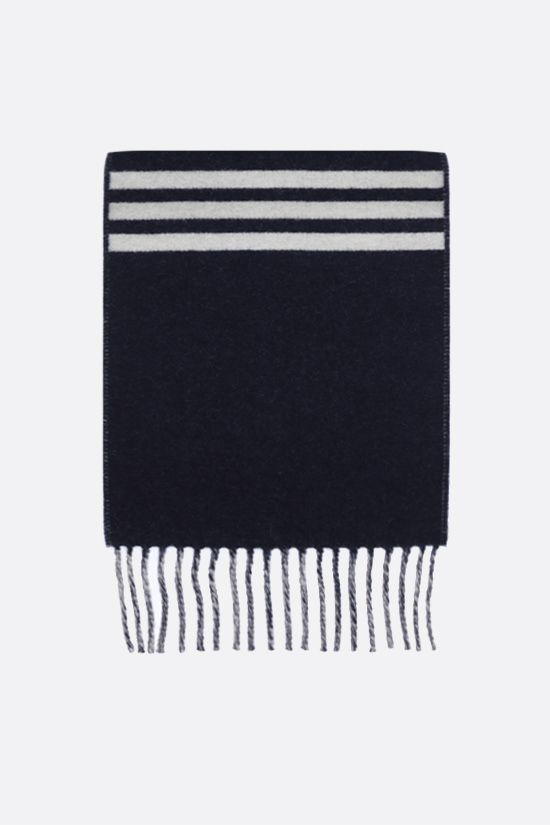 LOEWE: wool cashmere blend football scarf Color Blue_1